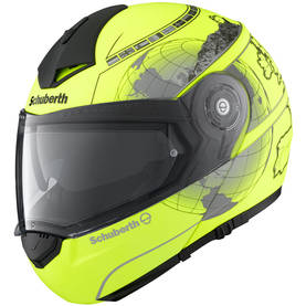 SCHUBERTH KYPÄRÄ, C3 PRO FLUE YELLOW EUROPE XS 52/53 - MP-kypärät - 51-1503-0 - 1