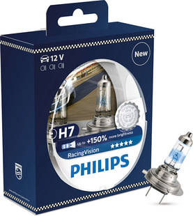 AUTOL.PHILIPS H7 RACING VISION 150% - 12V H7 - 100-12972RVS2 - 1
