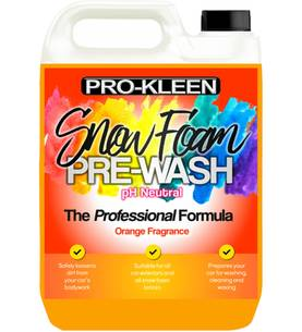 PRO-KLEEN SNOW FOAM PRE-WASH ORANGE 5L ESIPESUAINE - Esipesu- ja SnowFoam - 101873963 - 1