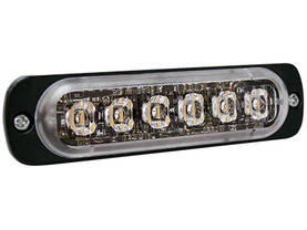 LED-VAROITUSVALO PYSTY R65 6-LED 12/24V KELT. 112X28X9MM - LED-tasovilkut - 1603-300593 - 1