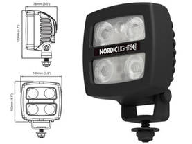 NORDIC LED-TYÖVALO N24 12/24V 17W 100X103MM - LED-työvalot alle 28W - 02CFE98CD655186F46 - 1