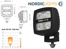 LED TYÖVALO N26 X-WIDE FLOOD 10-80V - LED-työvalot alle 28W - 1605-981201B - 1