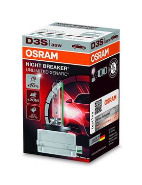 OSRAM D3S XENARC NIGHT BREAKER UNLIMITED +70% -POLTTIMO - D3S ja D3R - 66340XNB - 1