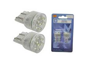 LED-POLTTIMOPARI  (21/5W)  VALK. 12V - Lasikantaiset LED-polttimot - 1249-LED - 1
