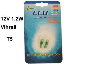 LED-POLTTIMOPARI VIHR.12V - Lasikantaiset LED-polttimot - 12516LED-VIH - 1