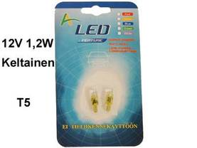 LED-POLTTIMOPARI KELT.12V - Lasikantaiset LED-polttimot - 12516LED-KEL - 1