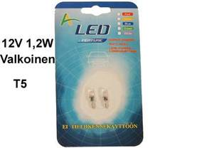 LED-POLTTIMOPARI VALK.12V - Lasikantaiset LED-polttimot - 12516LED-VAL - 1